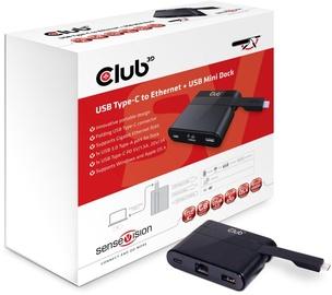 Club 3D Type-C To Ethernet/USB 3.0/USB Type-C Charging Mini Dock