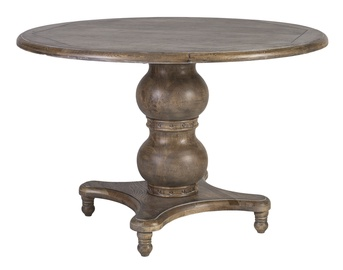 Home4you Watson Round Dining Table Watson D120 Antique Brown
