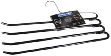 Coronet Pants Hanger 4 Hooks 34cm Black