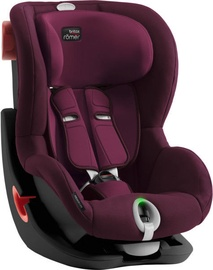 Automobilinė kėdutė Britax Romer Seat Black Series King II LS Burgundy Red, 9 - 18 kg