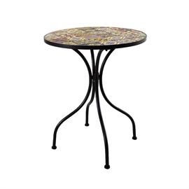 Dārza galds Home4you Morocco Mosaic, 60 x 60 x 71 cm