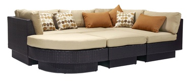Home4you Stella Garden Sofa Set Dark Brown/Beige