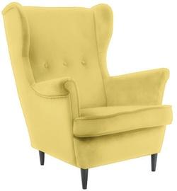 Signal Meble Lord Velvet Armchair Light Yellow