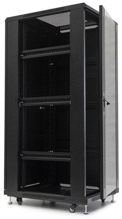 Netrack Standing Cabinet 32U/800x800mm Glass Black