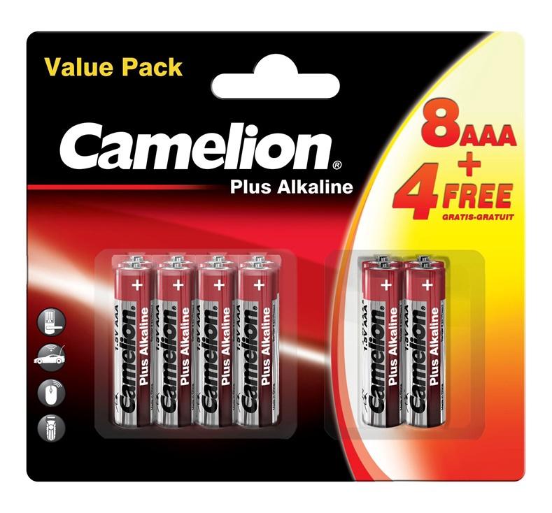 BATERIJAS CAMELION+ AAA B12 8+4 ALKALINE