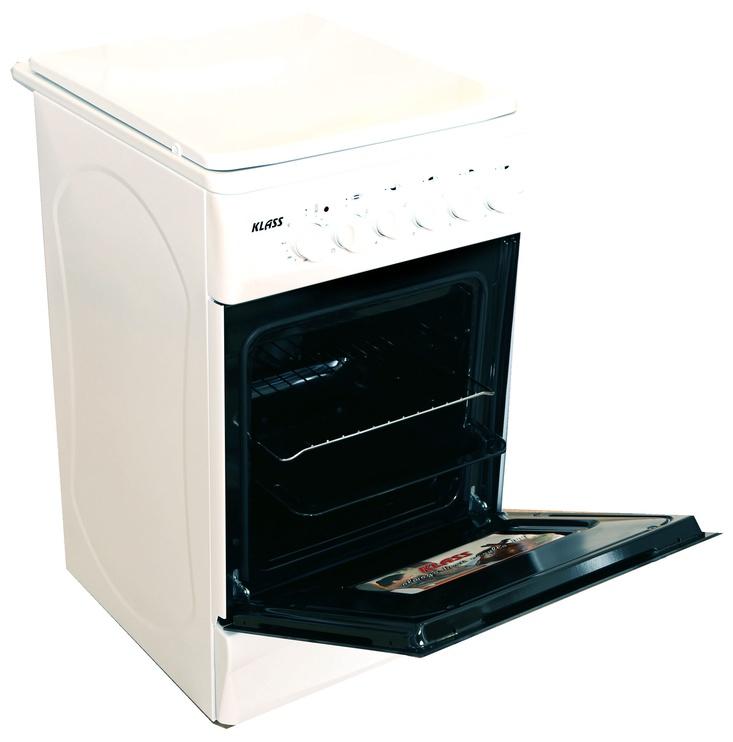 Dujinė viryklė su elektrine orkaite Klass TE-5640 White