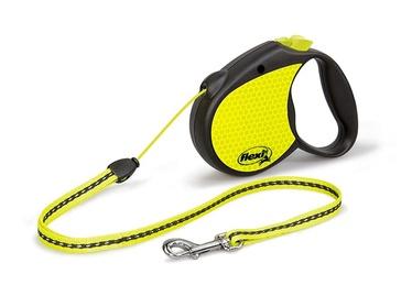 Automātiskā pavada Flexi Neon M  5m, dzeltena