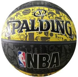 Spalding NBA Graffiti Rubber Ball 83307Z Black/Yellow Size 7