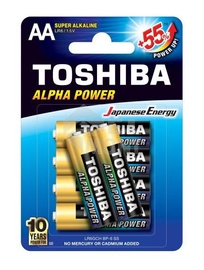 Toshiba Alpha Power AA Alkaline Battery 6x