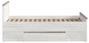 Black Red White Luca JuZi Bed 90 White/Sonoma Oak