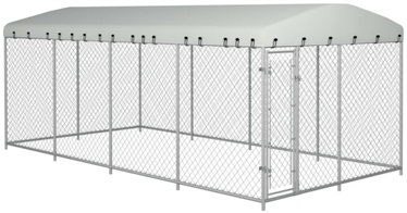 Koerapuur VLX Outdoor Dog Kennel w/ Roof Silver, 7600x3800x1900 mm