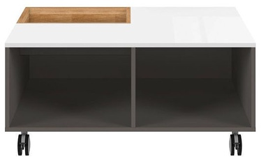Kavos staliukas Black Red White Graphic Oak/White/Grey, 905x900x420 mm