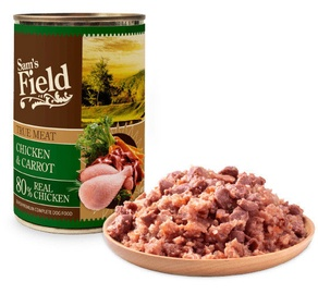 Sam's Field True Meat Chicken & Carrot Dog Wet Food 400g