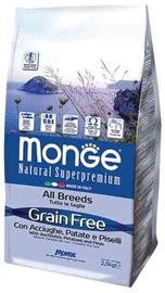 Сухой корм для собак Monge Grain Free Adult with Anchovies Potatoes and Peas, 12 кг