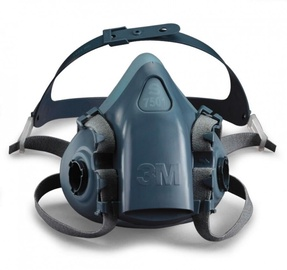 Полумаска 3M Silicone, синий/серый