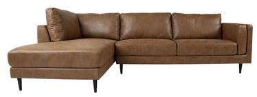 Kampinė sofa Home4you Lisbon 28540, ruda, 289 x 175 x 89 cm