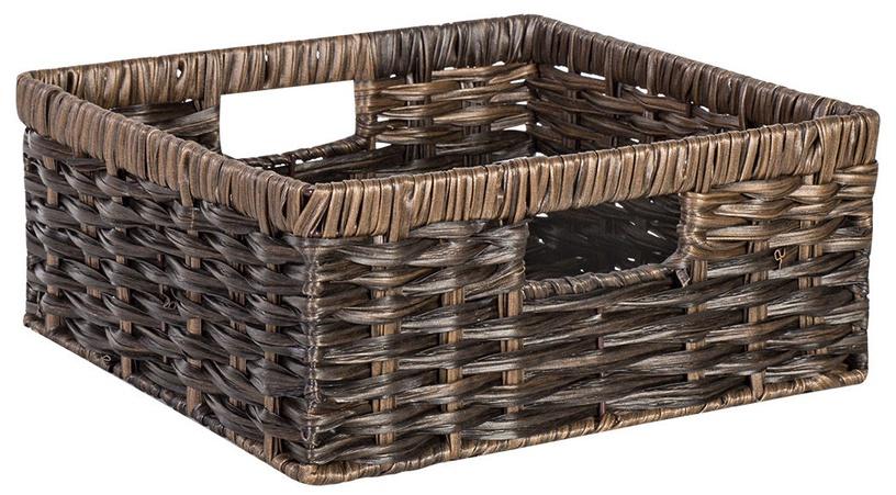 Home4you Basket Rubys 3 22x22x10cm Dark Brown
