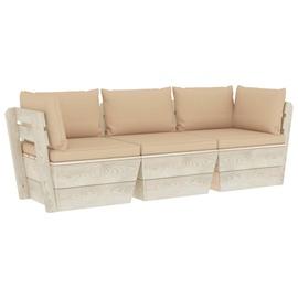 Välimööbli komplekt VLX 3-Seater Pallet Sofa With Cushions, liiva, 3 istekohta