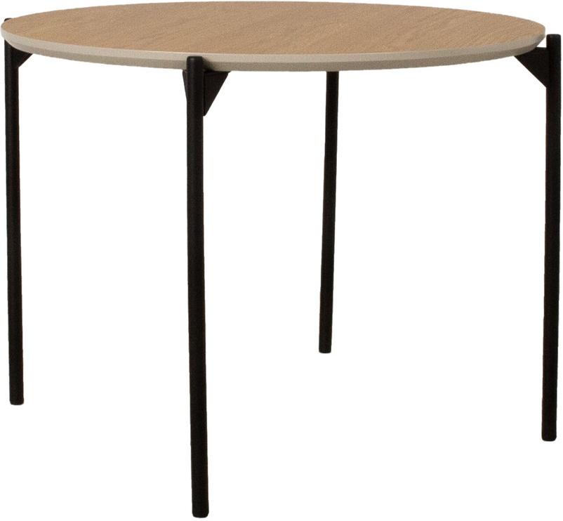 Kavos staliukas Home4you Point, rudas/juodas, 600x600x450 mm
