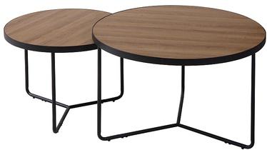 Журнальный столик Signal Meble Italia, черный/ореховый, 600 мм x 600 мм x 450 мм