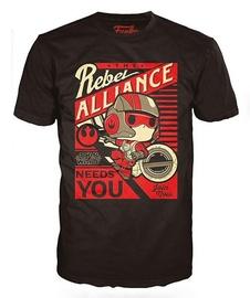 Funko T-Shirt POP! Tees: Star Wars Poe Dameron Black S