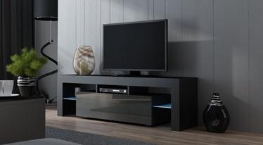 TV galds Pro Meble Milano 160 With Light Black/Grey, 1600x350x450 mm