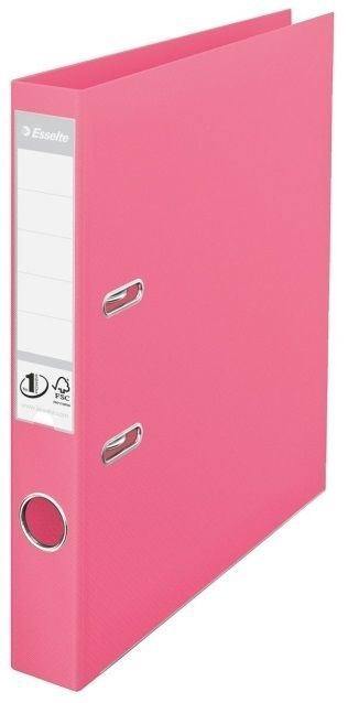 Esselte No.1 Solea Lever Arch File PP 5cm Pink