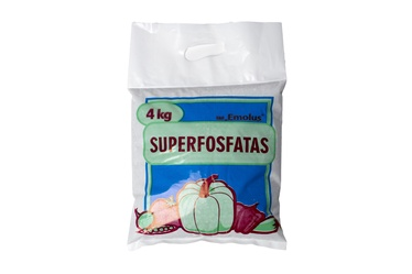 Superfosfāta mēslojums granulās Emolus, 4kg