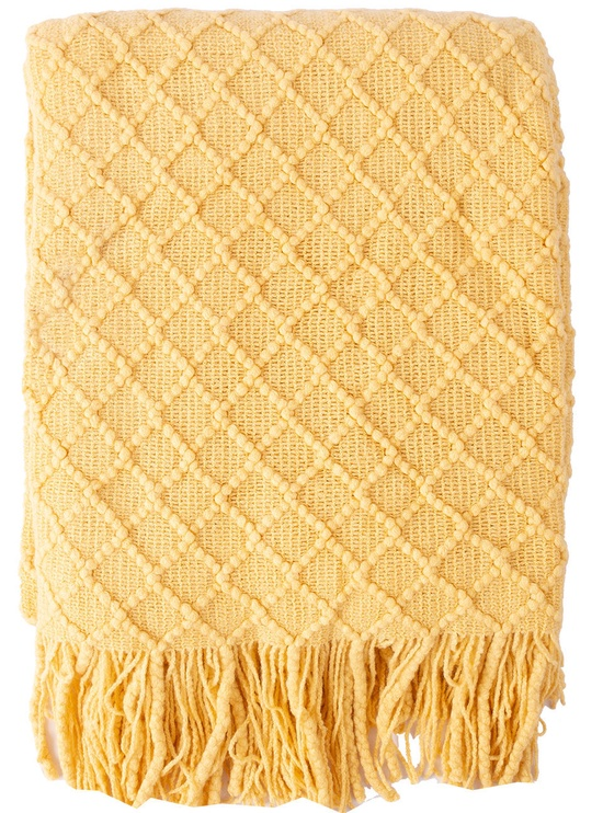Home4you Felice Blanket 130x170cm Yellow