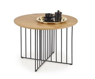 Журнальный столик Halmar ZARA, черный/дубовый, 800 мм x 800 мм x 550 мм