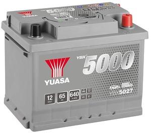 Аккумулятор Yuasa YBX5027, 12 В, 65 Ач, 640 а