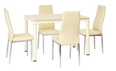Pusdienu galds Signal Meble Galant Cream, 1100x700x750 mm