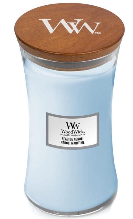 Aromātiskā svece WoodWick Seaside Neroli Light Blue, 610 g