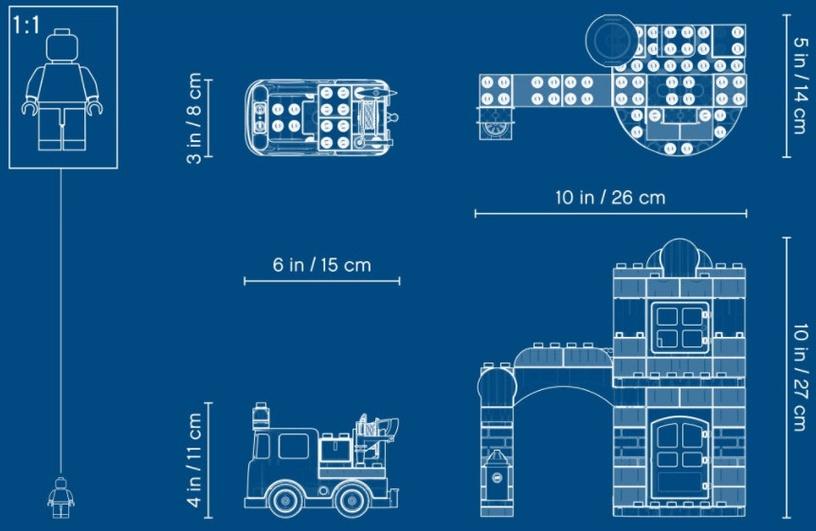 Konstruktorius LEGO Duplo Fire Station 10903