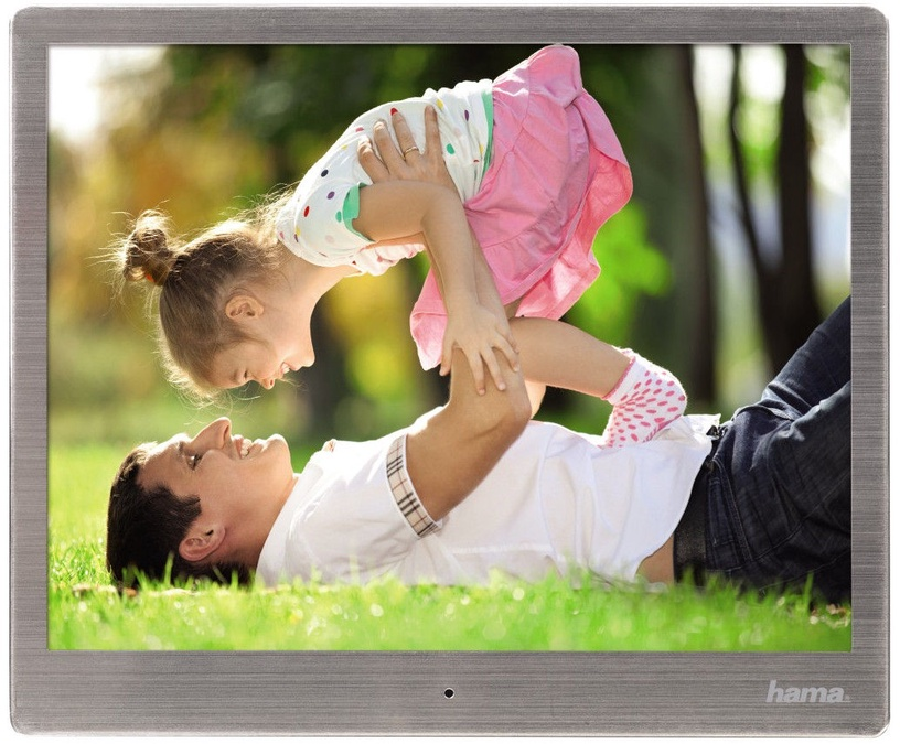 "Hama Digital Photo Frame 10.0"" Slim Steel Silver"