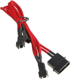 BitFenix 4-Pin to 3 x 3-Pin Cable Red/Black