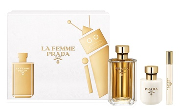 Prada La Femme De Prada 100ml EDP + Body Lotion 100ml + 10ml EDP