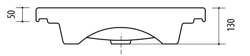 Раковина Riva Riva 50C-1, керамика, 490 мм x 370 мм x 130 мм