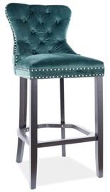 Bāra krēsls Signal Meble August H-1 Velvet, zaļa