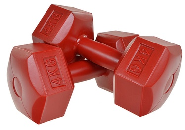 Profit HEX Set Of Dumbbells Red 4kg
