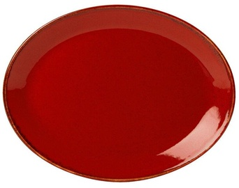 Porland Seasons Oval Plate 27.2x36cm Red