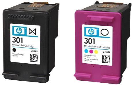 HP Original 301 Ink Cartridges Black + Cyan Magenta Yellow