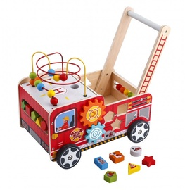 4IQ Educational Wooden Walker Pusher Fire Department