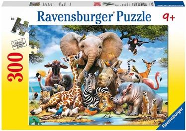 Dėlionė Ravensburger African Friends 13075, 300 dalių