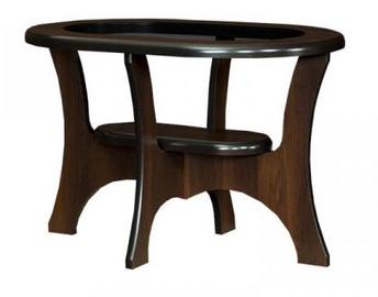 Bodzio S02 Oval Coffee Table Walnut