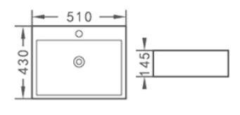 Praustuvas ACB8207, 51 x 43 x 14,5 cm
