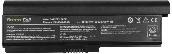 Аккумулятор для ноутбука Green Cell Laptop Battery For Toshiba Satellite A660 6600mAh