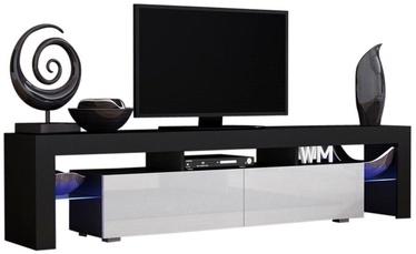 TV galds Pro Meble Milano 200 Black/White, 2000x350x450 mm