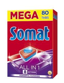 Indaplovių kapsulės Somat All in One, 80 vnt.