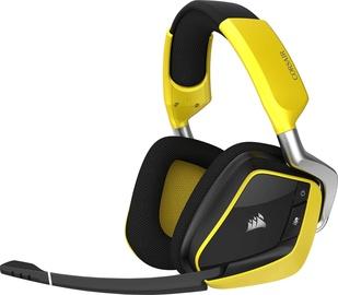 Žaidimų ausinės Corsair VOID PRO Yellow, belaidės